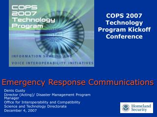 Emergency Response Communications