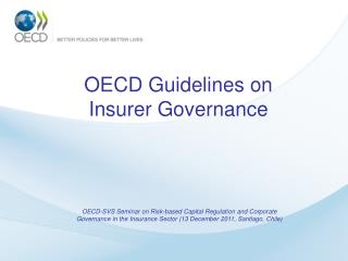 OECD Guidelines on Insurer Governance