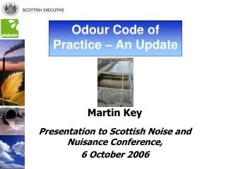 Martin Key Presentation to Scottish Noise and Nuisance Conference,  6 October 2006