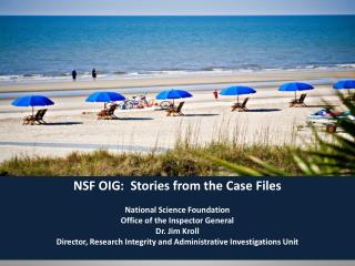 NSF OIG:  Stories from the Case Files National Science Foundation Office of the Inspector General