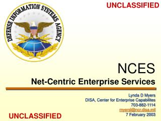 NCES Net-Centric Enterprise Services