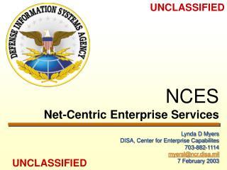NCES Net-Centric Enterprise Services