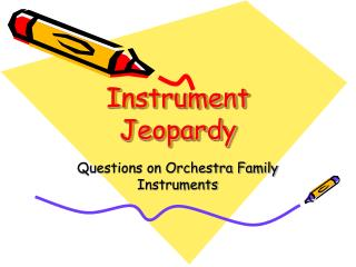 Instrument Jeopardy