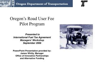 Road User Fee Task Force