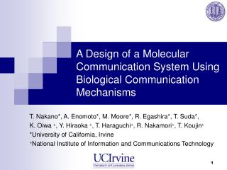 A Design of a Molecular Communication System Using Biological Communication Mechanisms