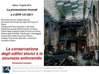 Direzione Regionale per i Beni Culturali e Paesaggistici della Toscana