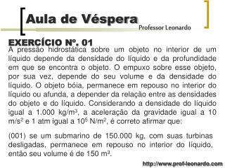 EXERCÍCIO Nº. 01