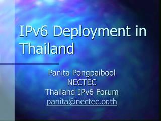 IPv6 Deployment in Thailand