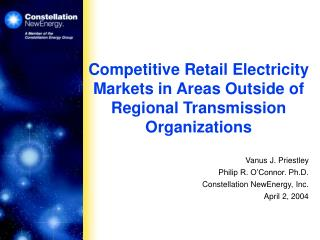 Competitive Retail Electricity Markets in Areas Outside of Regional Transmission Organizations