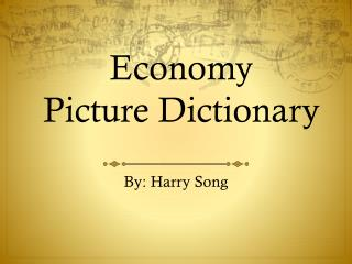 Economy Picture Dictionary