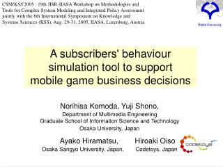 A subscribers' behaviour simulation tool to support mobile game business decisions