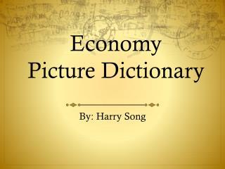 Economy Picture Dictionary