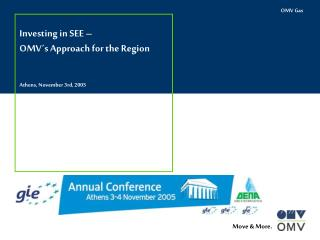 Investing in  S EE �  OMV� s Approach for the Region