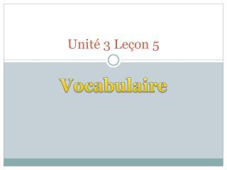 Unité  3  Leçon  5