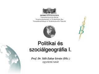 Politikai �s szoci�lgeogr�fia I.