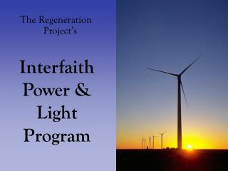 Interfaith  Power & Light Program