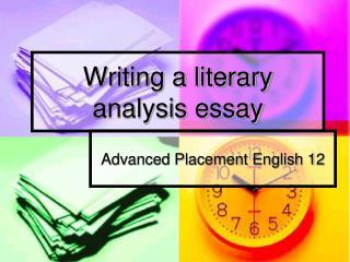 goal literary essay