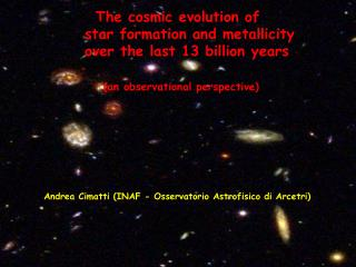 The cosmic evolution of         star formation and metallicity