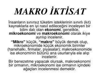 MAKRO  İKTİSAT