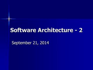 Software Architecture - 2