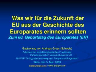 Gastvortrag von Andreas Gross (Schweiz)