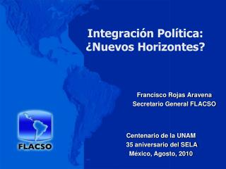 Integración Política:  ¿Nuevos Horizontes?