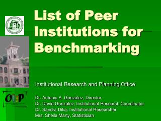 List of Peer Institutions for Benchmarking