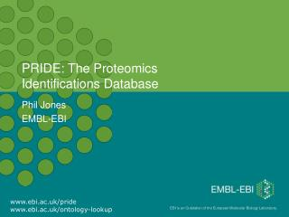 PRIDE: The Proteomics  Identifications Database