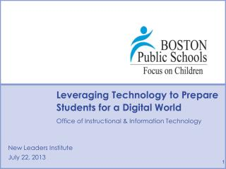 Leveraging Technology to Prepare Students for a Digital World