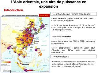 L�Asie orientale, une aire de puissance  en expansion