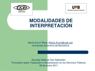MODALIDADES DE INTERPRETACIÓN