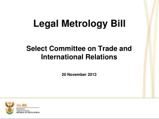 Legal Metrology Bill