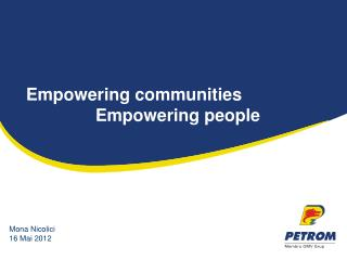 Empowering communities  		Empowering people