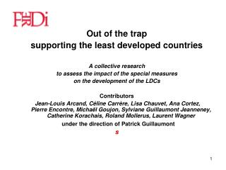 Out of the trap supporting the least developed countries A collective research