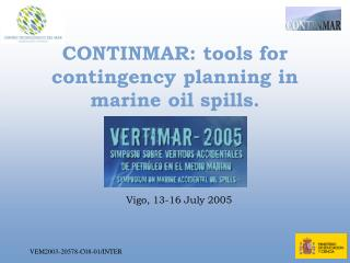 CONTINMAR: tools for contingency planning in marine oil spills.