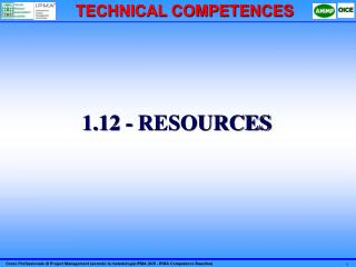 1.12 - RESOURCES