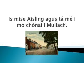 Is  mise Aisling agus tá mé i  mo  chónaí i Mullach .
