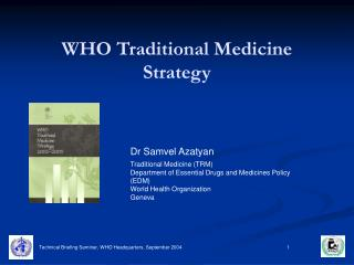 WHO Traditional Medicine Strategy