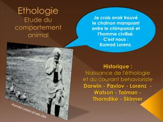 Ethologie Etude du comportement animal