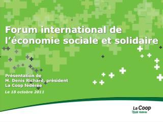 Forum international de l'économie sociale et solidaire