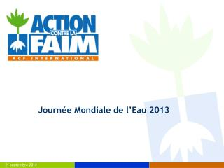Journée Mondiale de l'Eau 2013