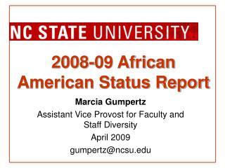 2008-09 African American Status Report