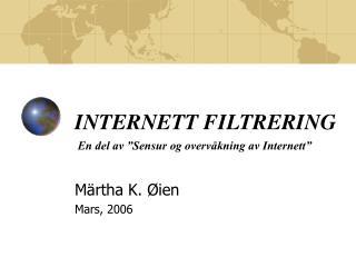 INTERNETT FILTRERING