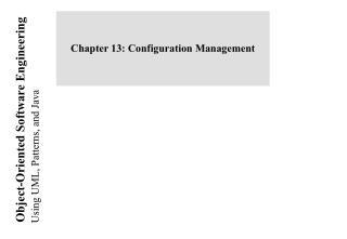 Chapter 13: Configuration Management