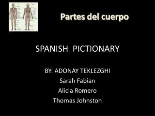 SPANISH  PICTIONARY