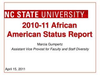 2010-11 African American Status Report
