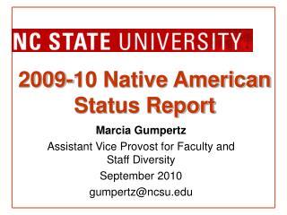2009-10 Native American Status Report