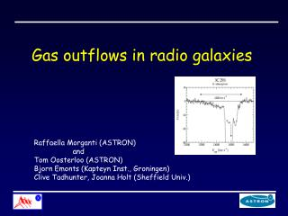 Gas outflows in radio galaxies