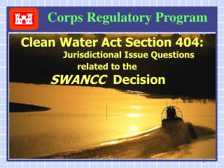 Corps Regulatory Program