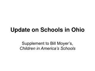 Update on Schools in Ohio